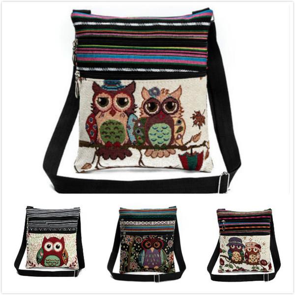 Модные сумки через плечо с принтом в виде совы