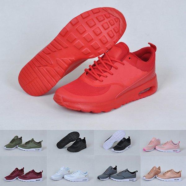 2019 Moda Vermelho Preto Branco Mens Womens Coxim Bottoms Running Shoes Designer De Luxo Senhoras Juventude Casual Tênis Esportivos Tamanho 36-44