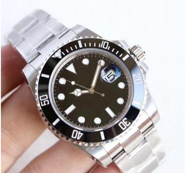 top popular U1 Factory Hot Wristwatches Mens Watch Sapphire Black Ceramic Bezel Stainless Steel 40mm 116610LN 116610 Automatic Mechanical Mens Watches 1 2019