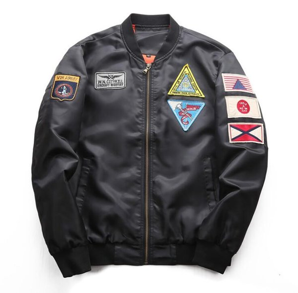 2019 kanye west neuesten design kanye frühling und herbst männer casual kragen jacke air force pilot männlichen baseballuniform