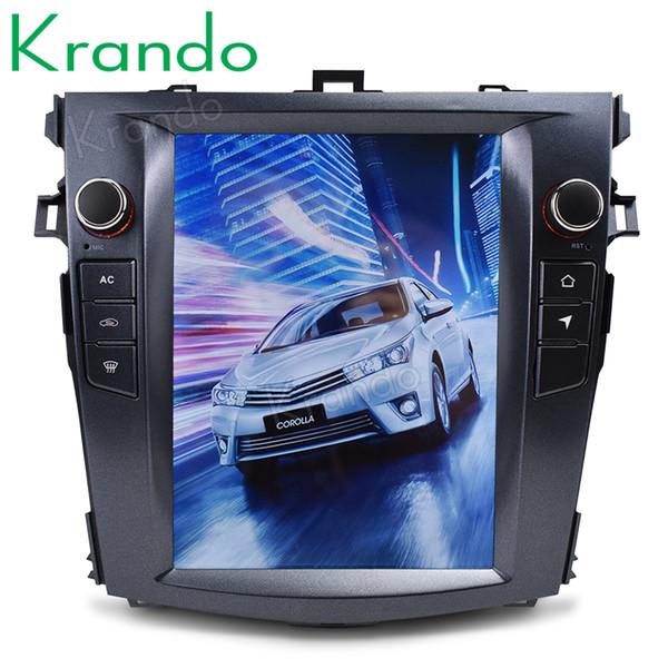 Krando Android toyota Corolla 2008-2012 radyo navigasyon sistemi araba dvd için 7.1 10.4
