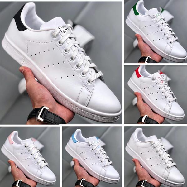 Con la caja de diseñador de lujo Smith, los zapatos deportivos de moda para hombre de primera calidad Stan, negros, rojos, transpirables y casuales, bajos para ayudar a los niños.