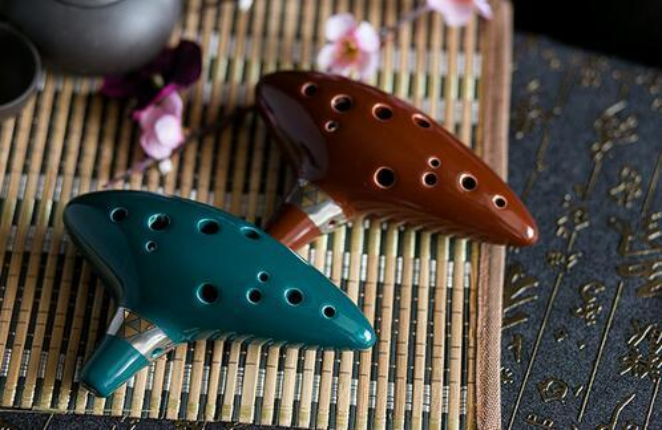 best selling Quality 12 Hole Ocarina Instrument Kiln-fired Ceramic Alto C Legend of Zelda Ocarina Flute of Time Worldwide Musical Instrument