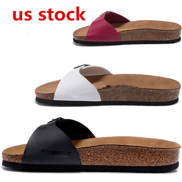 top popular US STOCK, Arizona 2020 Summer Beach Cork Slipper Flip Flops Sandals Women Mixed Color Casual Slides Shoes Flat Free Shipping 36-46 FY9034 2020