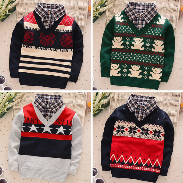 good quality 2019 baby boys kniting clothes gentleman a sweaters children spring autumn pullover for kids coat Jacket Outerwear