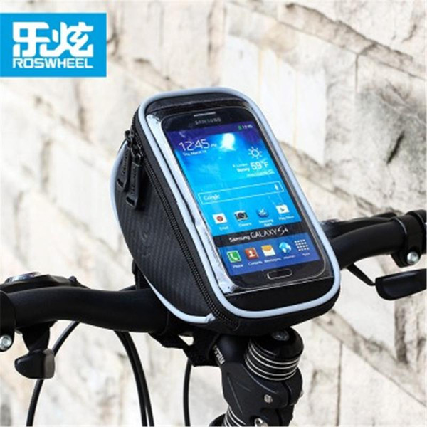 best selling Cycling Bags ROSWHEEL Bike Handlebar Phone Bag Bicycle Frame Waterproof Touchscreen Case Pouch