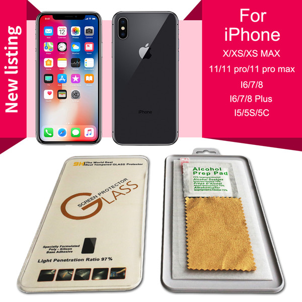 best selling Tempered Glass Screen Protector For iPhone SE 2020 iPhone 12 11 Pro Max X XS Max XR 6 7 8 Plus 9H