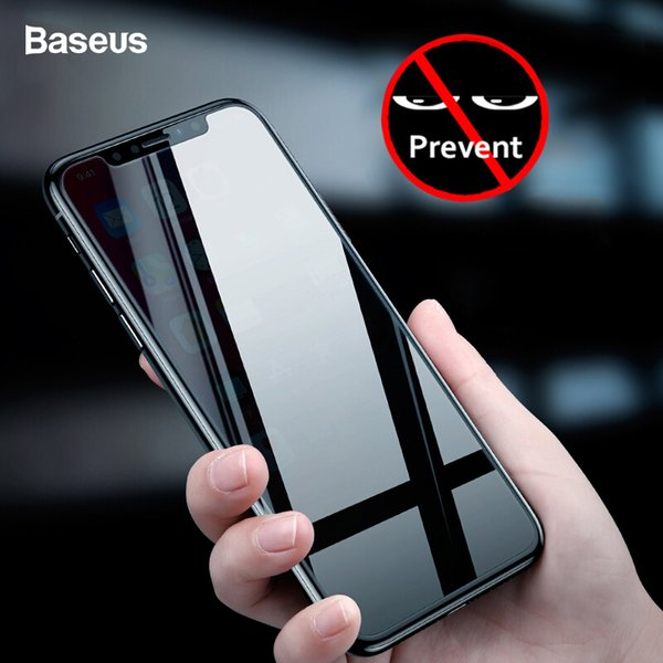 Protezione dello schermo di protezione della privacy di Baseus Per Iphone Xs Max Xr Copertura della pellicola di vetro temperato protettivo anti-piging per Iphone Xr J190505