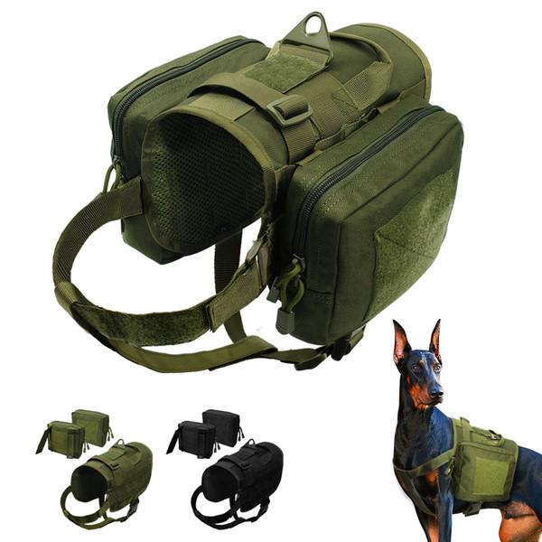 Taktisches Hundegeschirr Militärische Trainingsweste K9 Wasserdichtes Geschirr mit abnehmbarem Molle Pouches Patches für große Hunde Dobermann