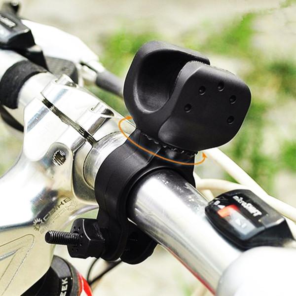 200pcs 360 gradi della bicicletta Holder Mount torcia a LED per la torcia della bicicletta della clip del morsetto della bici del telefono Accessori