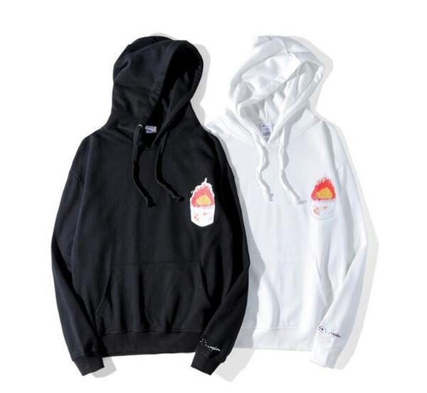 Fashion designer hoodie Men champions brand luxury hooded sweater Europe United States trend fire doll print hoodies long-sleeved sweatshirt