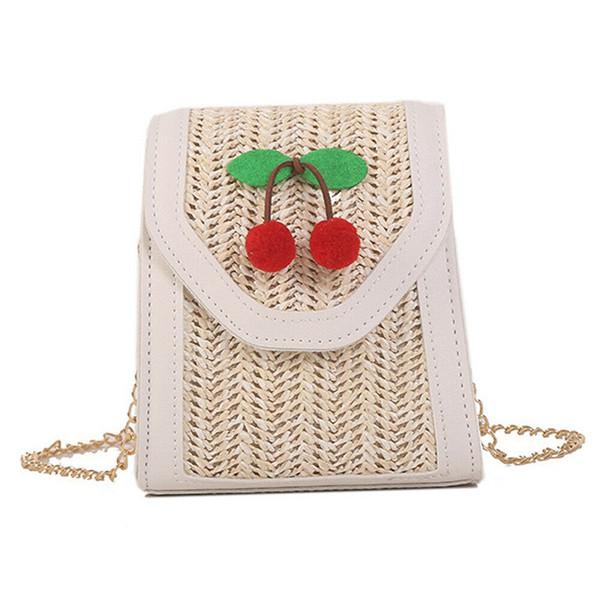 New Women Bag Lady Lovely Straw Leather Shoulder Bag Tote Handbag Satchel Fashion Princess Messenger Crossbody Travel Beach