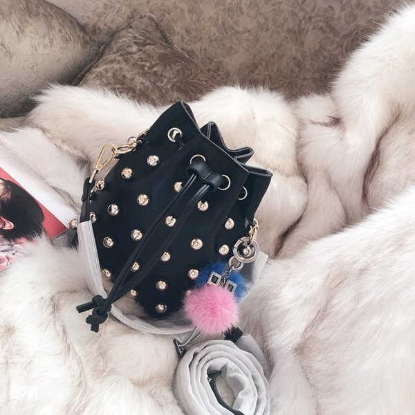 designer bucket bags pearl rivet MON TRESOR designer purse bag luxury fashion tote shoulder purses bags