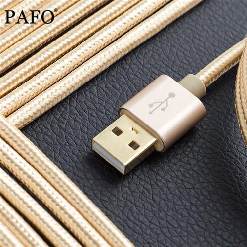3 pies / 1 M Conector de metal Cable micro USB Sincronización de datos Cable de carga Intacto Un cable de carga más fuerte para Samsung / HTC / teléfono inteligente Android
