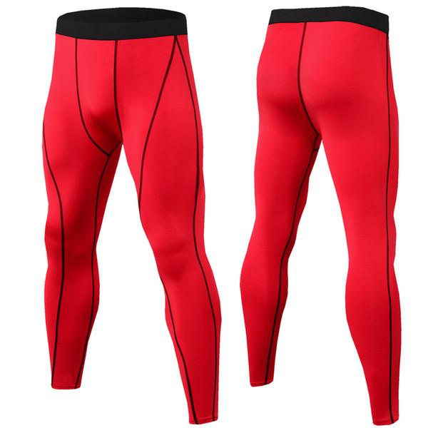 FashionWholesale 2019 Running Compression Pants Tights Men Sports Leggings Fitness Sportswear Long Trousers Gym Training Pants Leggins Hombr