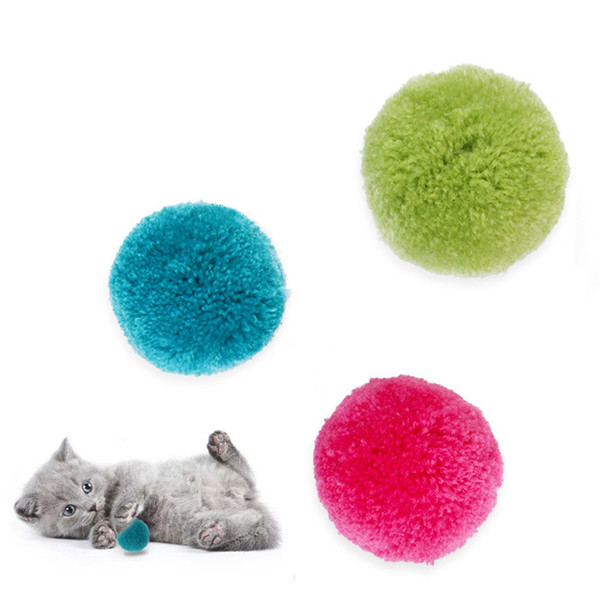 best selling Colorful Rolling Ball Yarn Toy Cat Toy Interactive Cat Funny Cat Kitten Balls Toy Pet Supplies yq01196