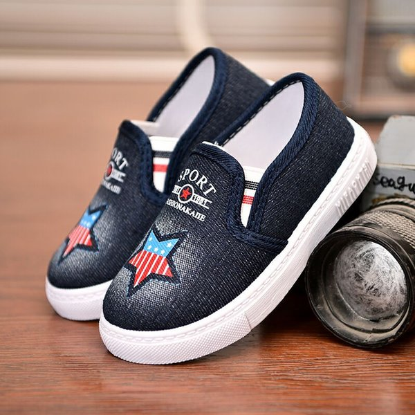 Fashion Infant Loafers Children Flat Shoes Canvas Kids Running Casual Shoes Boys Jogging Shoes Spring And Autumn First Walkers Baby Sneakers