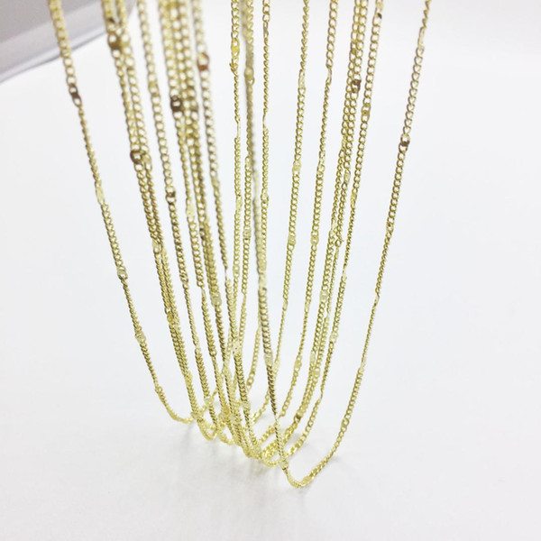 Eruifa 10pcs 45cm Tiny Chain with 6cm Ext Chain Jewelry Link DIY Finding Necklace,2 Colors nickle free and lead free
