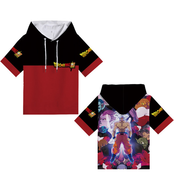 New Cartoon Dragon Ball 3D Digital Printing Cosplay Hoodies Costume Short Sleeve T-shirt sweatshirt Superhero comfortable