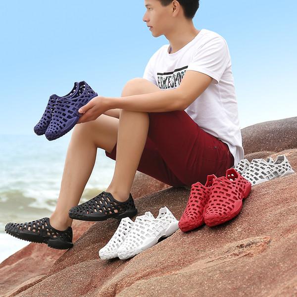 Kauçuk Katır Erkek Ayakkabı Yaz Plaj Açık Ayakkabı Nefes Delik Ayakkabı Sandalet Terlik Boyutu: 36-45 AK8033
