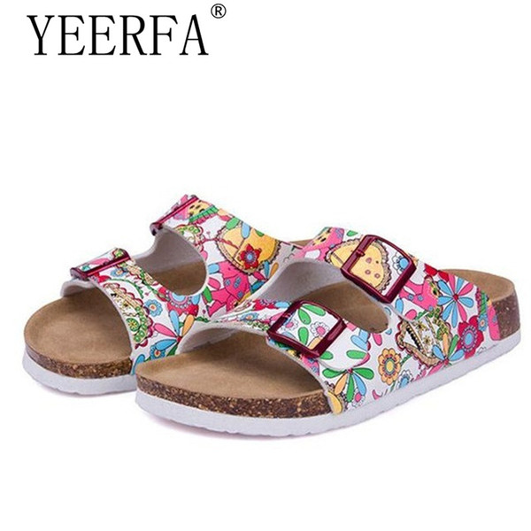YEERFA New Summer Beach Cork Slippers Sandals Casual Double Buckle Clogs Sandalias Women Slip On Flip Flops Flats Shoe Plus Size
