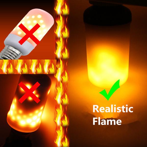 E27 E26 E14 B22 7W 3 Modi LED Flammeneffekt Feuer Glühbirnen Flackern Emulation Dekorative Flamme Lampen Für Weihnachten Halloween Dekoration