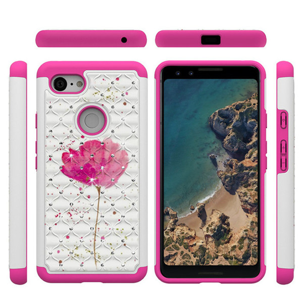 new arrival 8ad47 06714 Factory Wholesale OEM ODM Custom Printed Bling Cell Phone Case For Google  Pixel 3 TPU PC 2 In 1 Mobile Covers Cheap Cell Phone Cases Designer Phone  ...