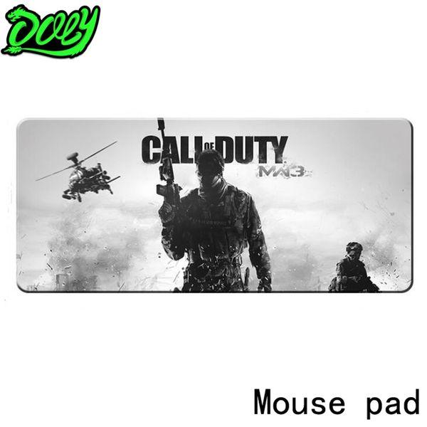 DOKLY Game Mouse Pad Call Dute Lässiger Stil Große Große Mauspad Geschwindigkeitsversion Tischset Große Auflage B10