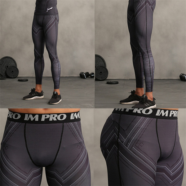 Black Panther 3D Printed Leggings Men Pattern Compression Tights Pants 2018 New Skinny Sweatpants crossfit Fitness Trousers Male