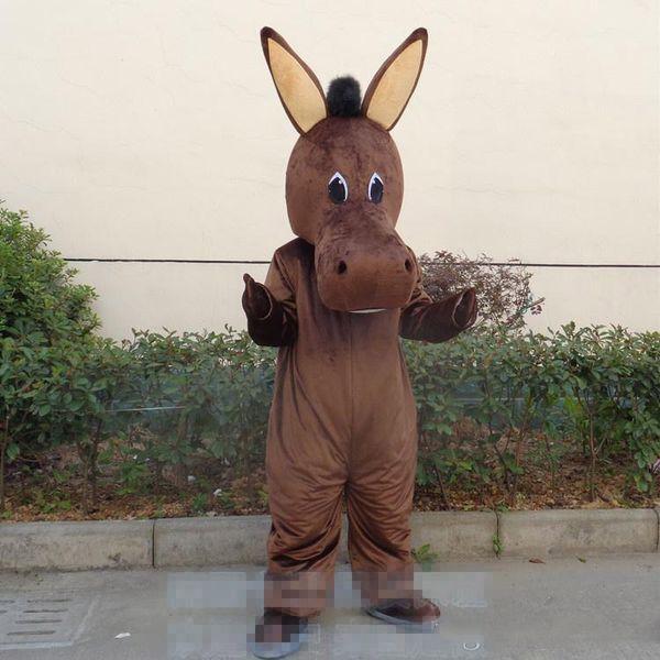Formato adulto Mascotte di asino mascotte Brithday Party Animal Donkey Costume mascotte personalizzato costume fantasia costume carnevale