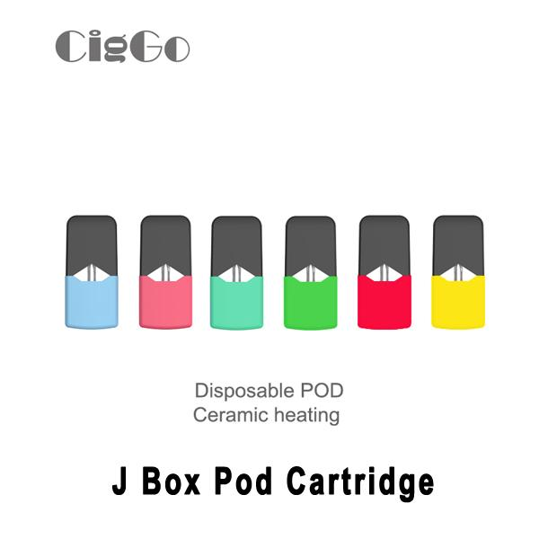 Autentico Ciggo J Box Pod Cartuccia 0,6ml Cartuccia ceramica coibentata Borracce monouso vuote Serbatoio Vape per J Kit Pod Box JC01 Kit