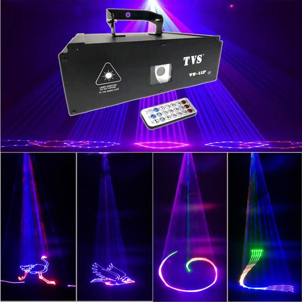 1W controllo remoto HD cinque effetti full color animazione luce laser 3D anime colorato luce del palcoscenico laser