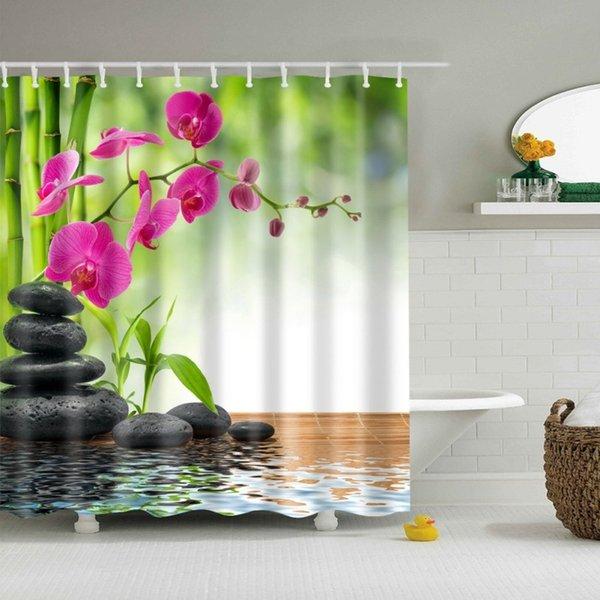 2018 Scene Version Multi-styles 3D HD Digital Printed Shower Curtains Waterproof Moisture-proof Bathroom Curtains Case tende C18112201