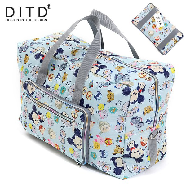 Travel Luggage Duffle Bag Lightweight Portable Handbag Black Leather Pattern Print Large Capacity Waterproof Foldable Storage Tote