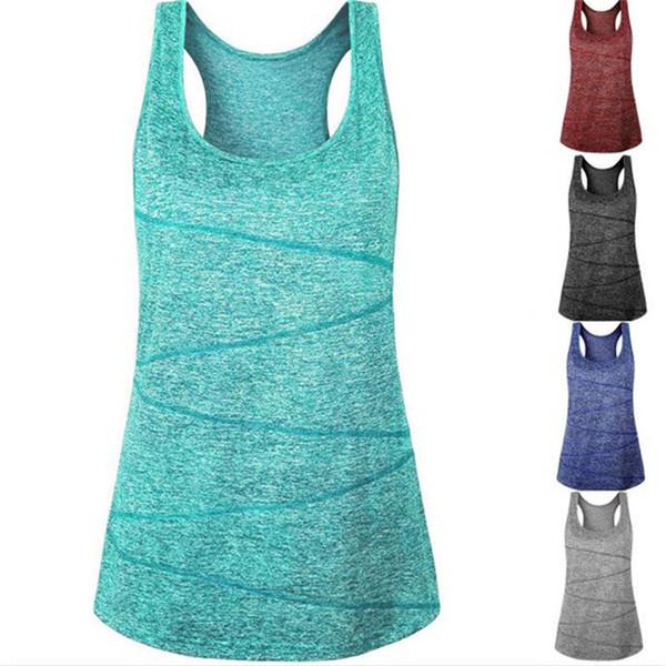 Spor üst t-shirt kadın hızlı kuru yoga gömlek gym spor katı kolsuz yelek atlet koşu eğitim yoga kadınlar için kıyafet