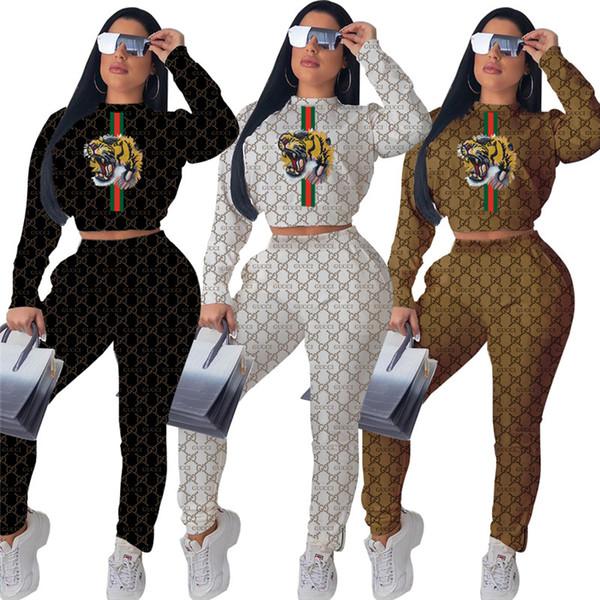 Le donne in due pezzi i vestiti delle ghette manica lunga Set Outfits sportivo Tuta da jogging Sport hoodie clubwear donne vestiti klw2422