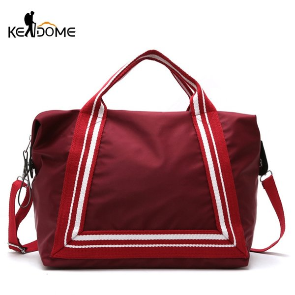 Women Sport Training Gym Fitness Travel Bags Durable Waterproof Nylon Outdoor Sports Handbag Shoulder Tote For Female XA941WD #29752