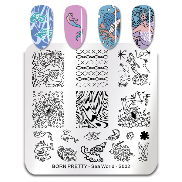 Placas de estampado de uñas Flamingo Nail Art Template Mandala Maple Leaf Stamp Nail Art Stamp Plantilla de imagen