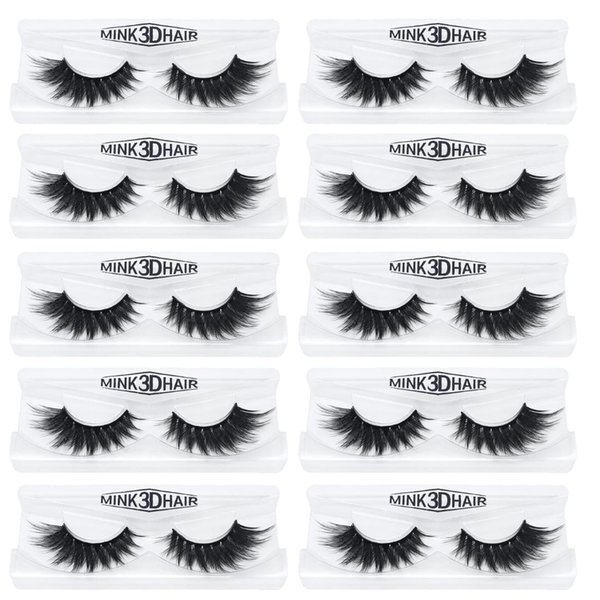 10Pairs/lot mink eyelashes natural long makeup false lash 3d mink lashes full strip lashes