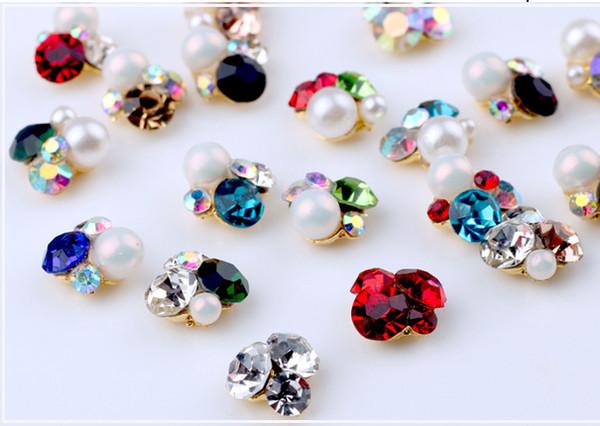 best selling New Nail Diamonds Manual piling of alloy nail diamonds Big Diamond Bright Decoration DIY nail accessories
