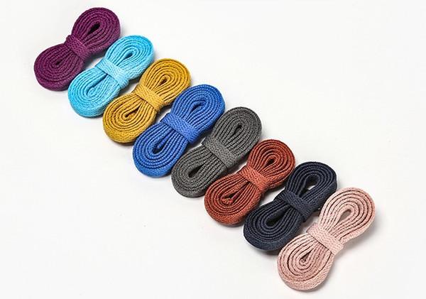 1 Paar Bunte Schnürsenkel Schnürsenkel für Segeltuch-Turnschuhe Sportschuhe langes Seil Schnürsenkel Lange 100CM / 120CM