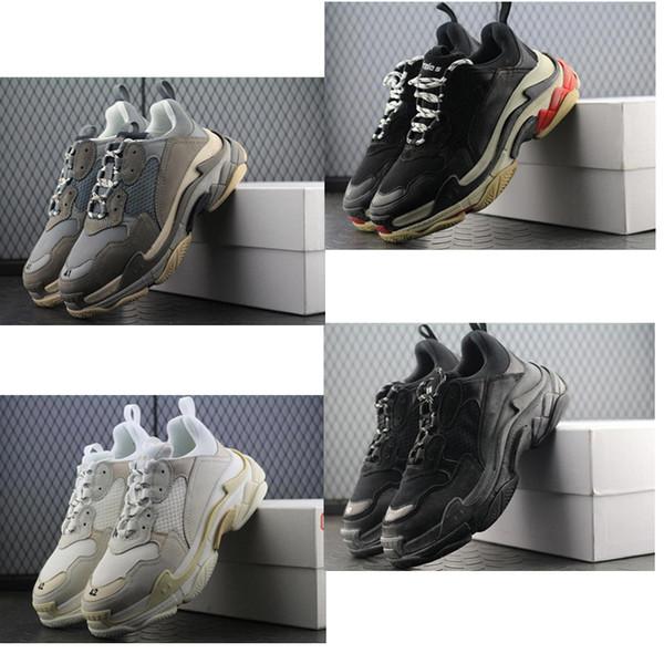 2019 Günstige Designer Paris 17FW Triple s Sneakers für Männer Frauen schwarz rot weiß Triple-s Casual Dad Schuhe Tennis zuzunehmen