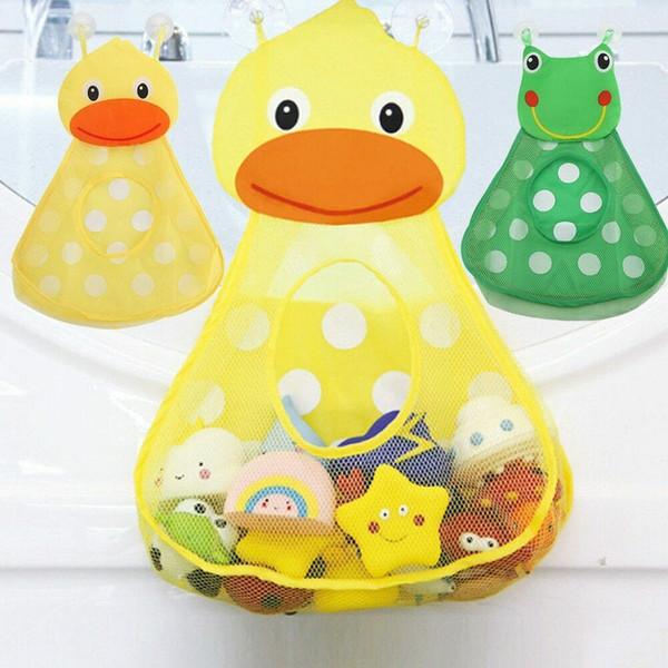 Banyo Oyuncakları Küçük Ördek Küçük Kurbağa Bebek Çocuk Oyuncak Depolama Mesh ile Güçlü Emme