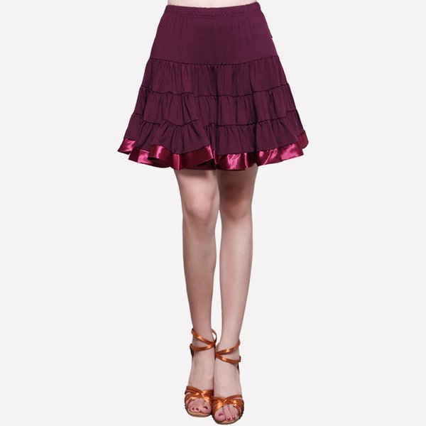 Latin Dance Skirt Adult Female Rumba Samba Tango Ballroom Latin Tap Dance Dress Women Stage Costume Performance Skirt