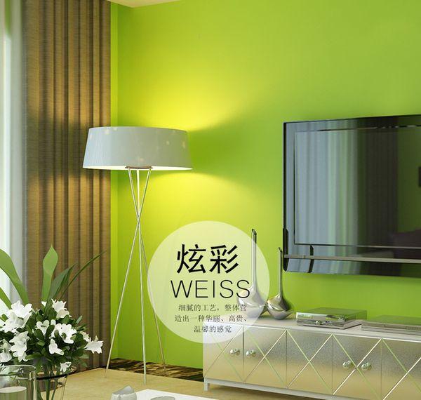 Modern Simples Cor Lisa Papel De Parede 3D Sala de estar Estudantes Estudantes Dormitório PVC À Prova D 'Água Adesivo de Parede