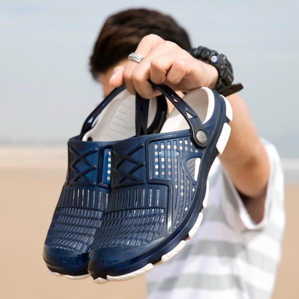 fashion Slippers Designer Brand Sandals Designer flip flops Summer Hole hole shoes Wide Flat Slippery beach Wading shoes Slipper Flip Flops