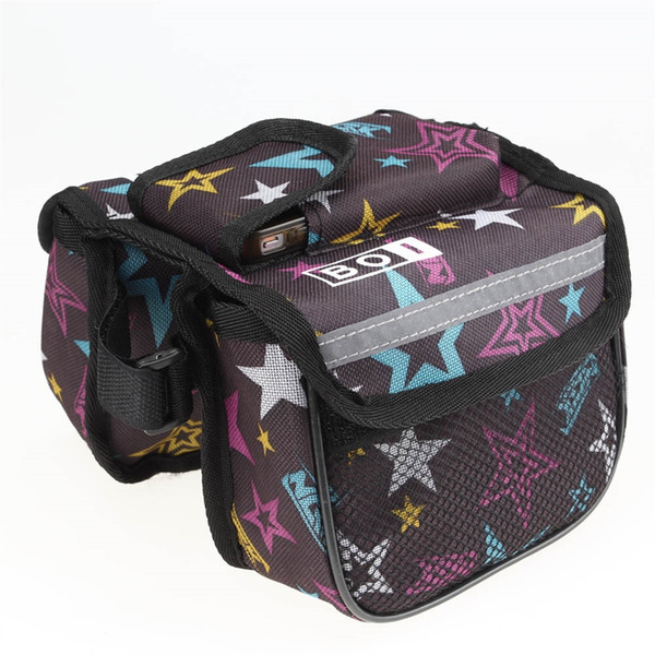 Cycling Bike Bicycle Front Bag Top Tube Frame Pannier Double Bag Pouch for Cycling #695915