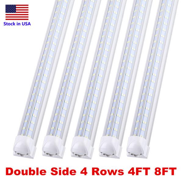 Stock In Us 8 Feet Led Light Integrate Fixture 8ft T8 Led Tube Lights 4 Rows 120w Led Fluorescent Tube Lamps Flexible Led Tube Tube T8 From