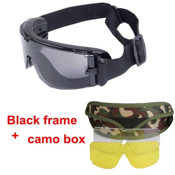 black frame camo box