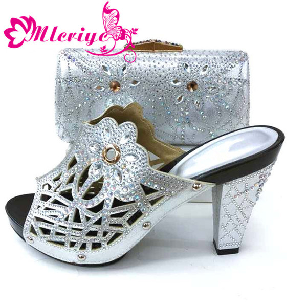 Silver shoe and bag